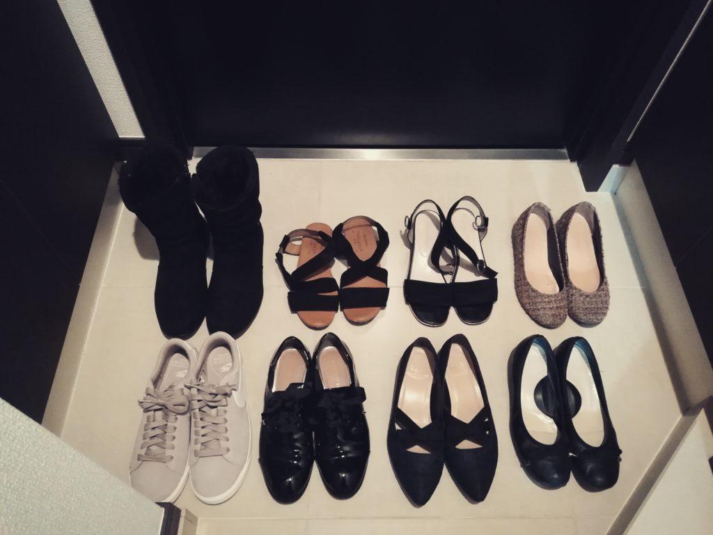 シンプルライフの靴の数